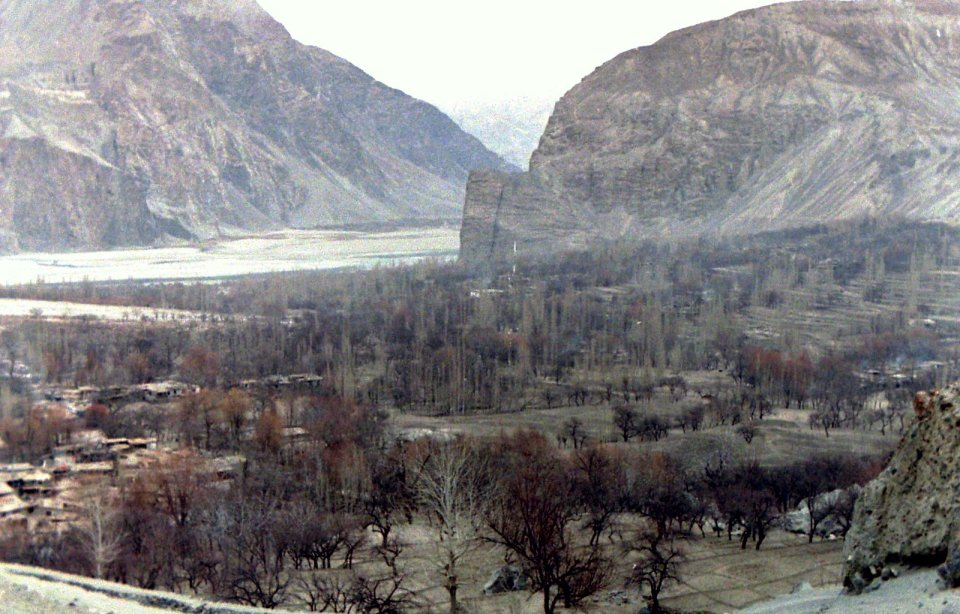 Winter View of Khaplu, Baltistan, Dec. 1987